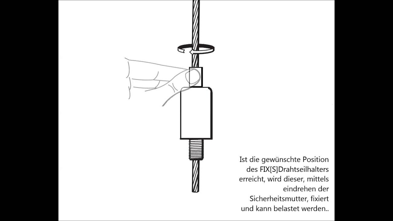 FIX[S]Drahtseilhalter, zertifiziert nach BGV C1