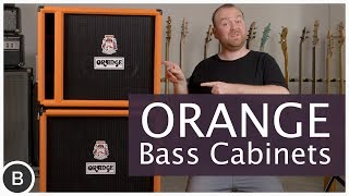 ORANGE BASS CABINETS - OBC 410, 115 & 212