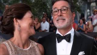 Stephen Colbert tells the story of when he knew his wife Evie was the one + Evie's cameo on the show