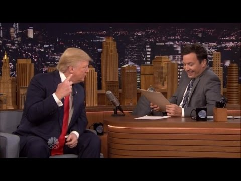 See How Donald Trump Handles a Mock Job Interview from Jimmy Fallon