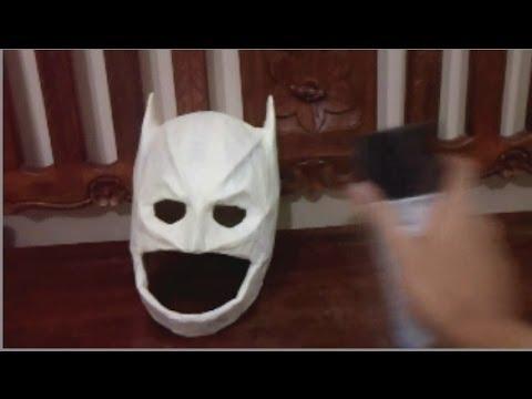 How to DYI: Lego Arctic Dark Knight Batman Paper Mache Mask Tutorial