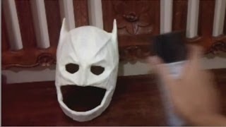 how to dyi lego arctic dark knight batman paper mache mask tutorial
