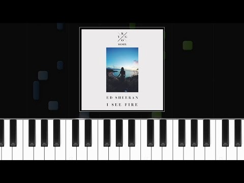 Ed Sheeran - I See Fire (Kygo Remix) Piano Tutorial - Chords - How To Play - Cover