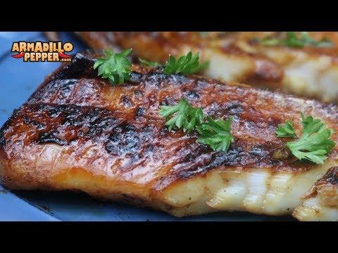 Honey-Porter Glazed Cod On A Himalayan Salt Block   Gourmet Guru Grill