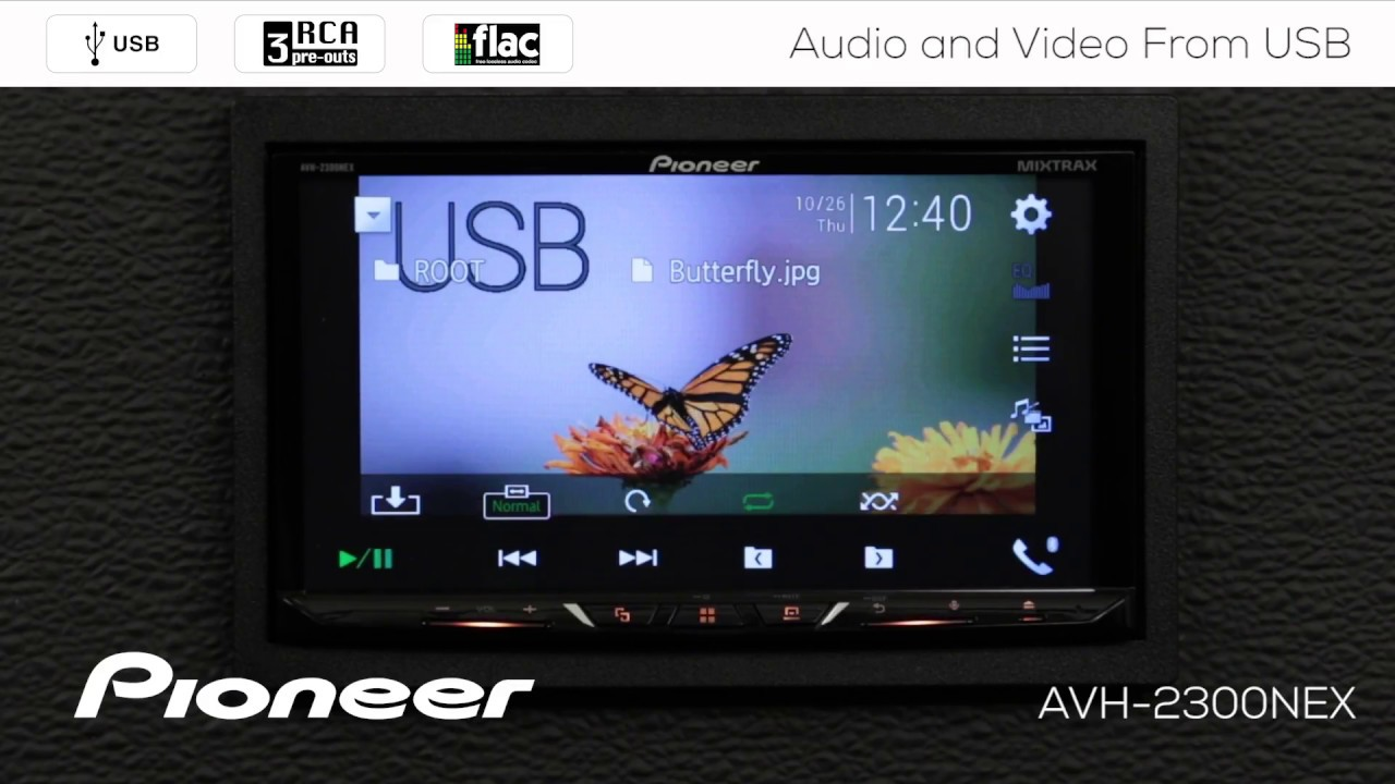 How To Video And Audio From Usb On Pioneer Avh Nex In Dash Backup Camera Wiring Receivers 2017