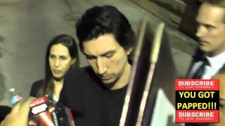 Adam Driver outside Jimmy Kimmel Live in Hollywood