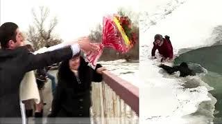 Невеста бросила букет в реку  Через секунду гости кричали от ужаса, увидев ЭТО!