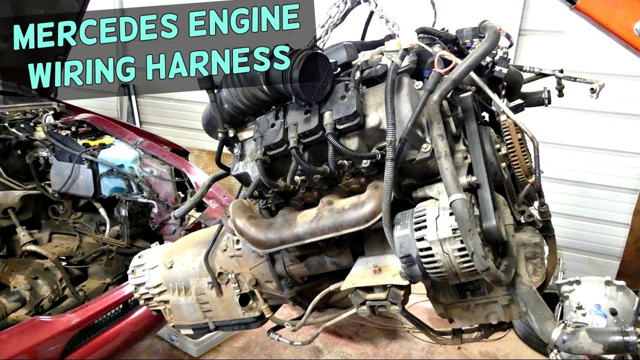 mercedes engine wiring harness removal replacement engine - youtube  youtube