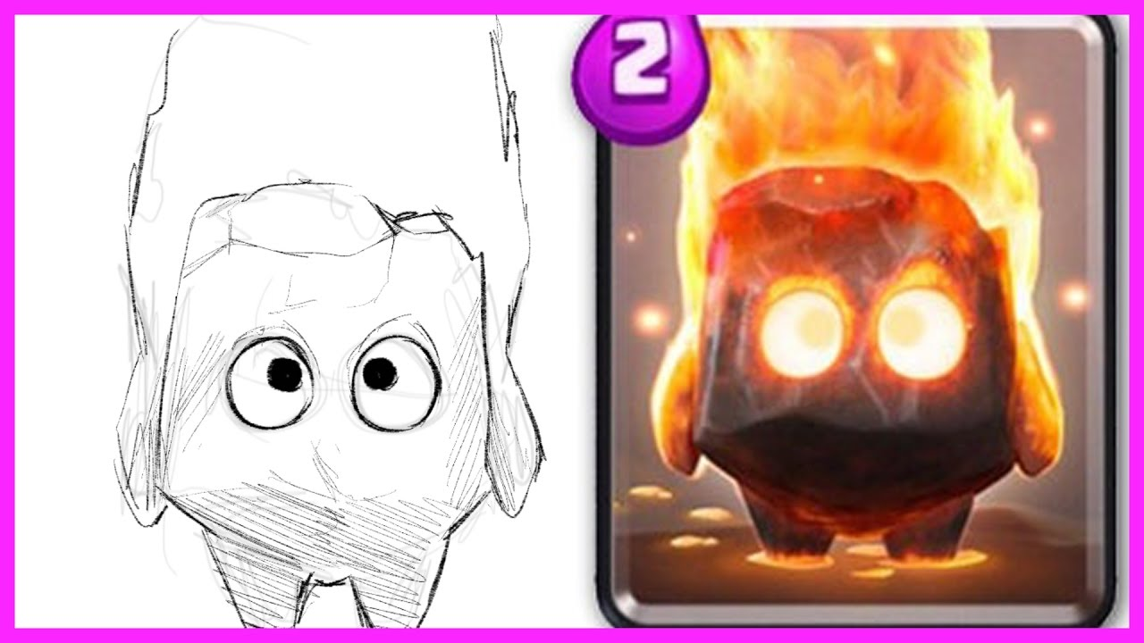 how to draw a spirit from clash royale