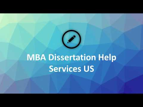 MBA Dissertation Writing Services USA