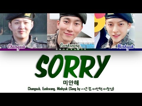 BTOB 비투비 - &39;SORRY&39; 미안해 Song by 서은광 이민혁 이창섭 Color Coded 가사 HanRomEng