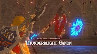 Zelda Breath Of The Wild: Hyrule Castle Blight Ganons and Calamity Ganon Three Hearts
