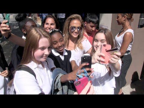 (New) Jennifer Lopez Leaving Nellos Restaurant and Walking 15 Blocks in NYC 05-13-14