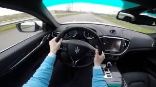 Maserati Ghibli S Q4 410BHP POV test drive GoPro