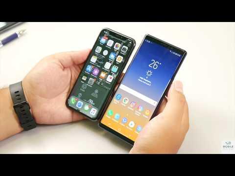 Сравнение Samsung Galaxy Note 9 и Apple iPhone X