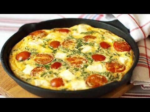Как приготовить омлет с помидорами. | How to cook an omelette with tomatoes.