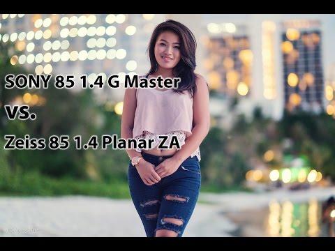 SONY 85mm 1.4 G Master vs Zeiss 85mm 1.4 ZA with Guam Model Genica 4K