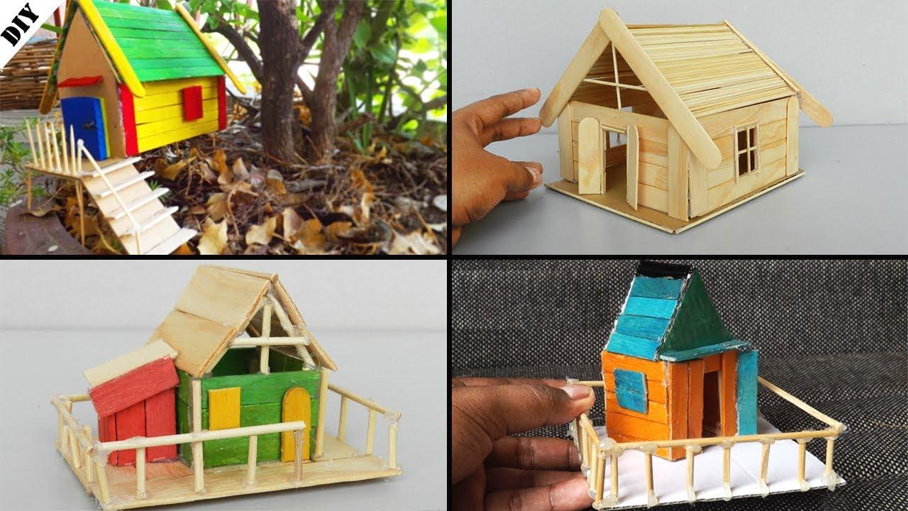 4 Popsicle Stick Houses | Easy and Quick – Lifehackme