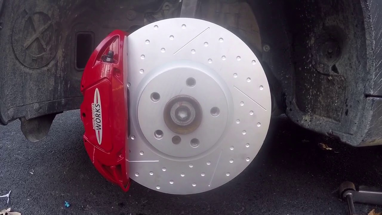 Front Brake Calipers And Rotors Brake Pads For Mini Cooper