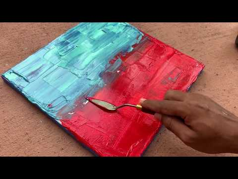 Easy Landscape Abstract Painting Demonstration | Satisfying |Easy and Fun| Daily Art