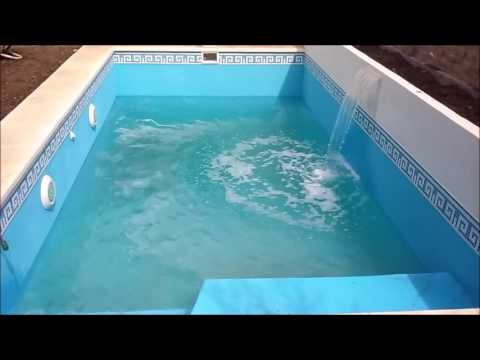 Video paso a paso construccion de piscina 6x3 con cascada for Construccion de cascadas para piscinas