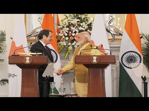 PM Modi at Exchange of Agreements & Press Statement with President of Cyprus Mr. Nicos Anastasiades