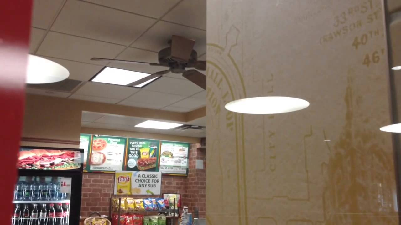Regency Ceiling Fan At An Airport Subway Youtube