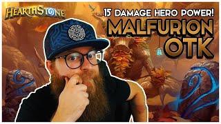 Malfurion OTK! 15 Damage Hero Power?! | Hearthstone | Descent of Dragons