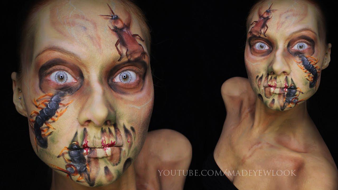 Halloween: infected (zombie makeup tutorial) youtube.