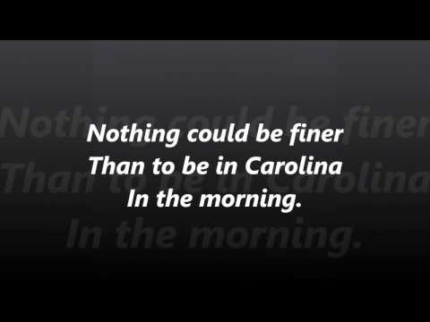 Carolina in the Morning words lyrics best top popular favorite not Al Jolson sing along song songs
