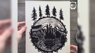 Relief printing art