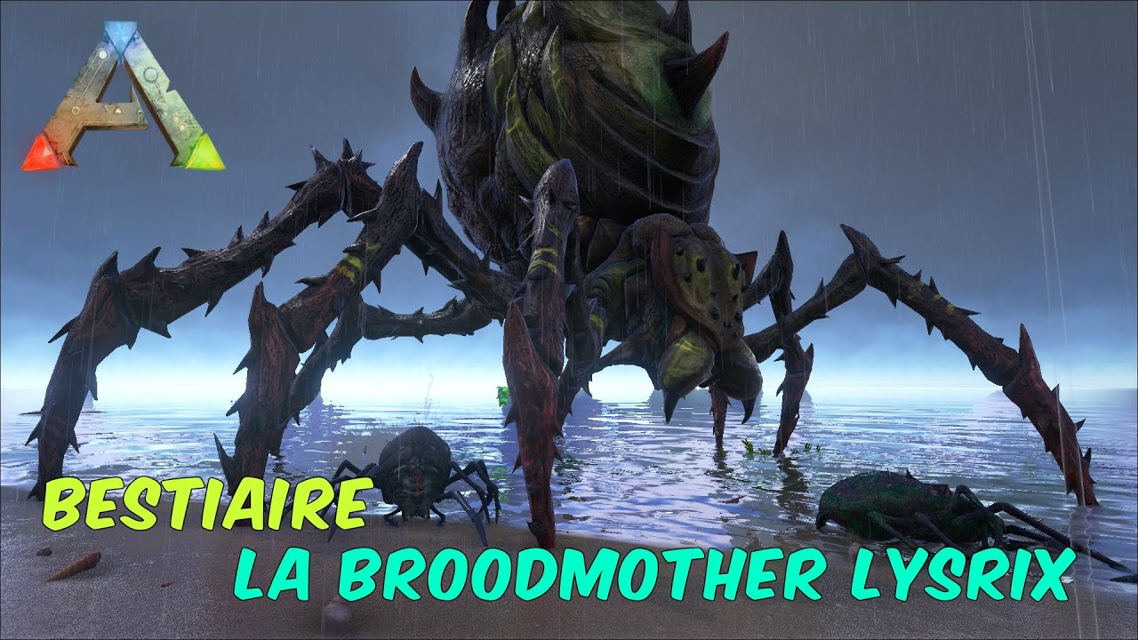 ark survival evolved fr bestiaire boss la broodmother lysrix youtube. Black Bedroom Furniture Sets. Home Design Ideas