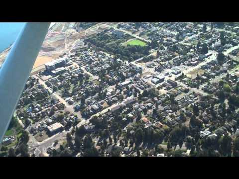 Flying over Tacoma, Washington