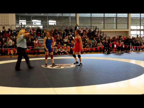 2015 Junior National Championships: 55 kg Krystin Paquette vs. Julie Steffler