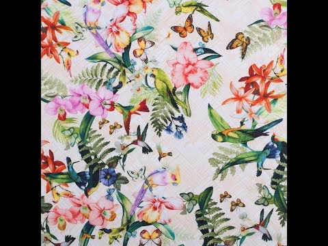 Tropical Digitally Printed Mercerized Cotton Woven #308443