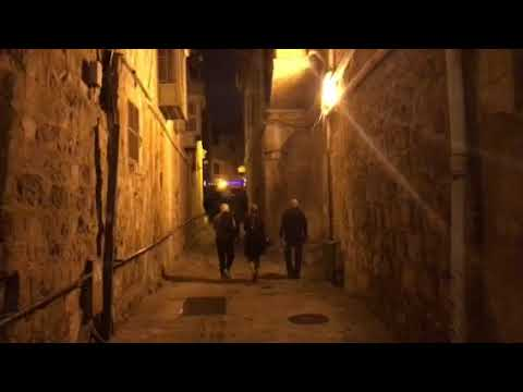 The Christian quarter in the old city of Jerusalem