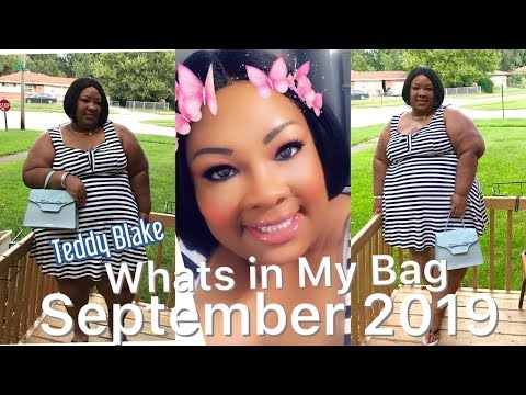 Whats In My Bag?! September 2019 Purse of the Month! Feat. Teddy Blake thumbnail