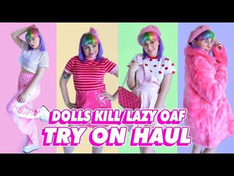 ♡ DOLLS KILL/LAZY OAF TRY ON HAUL ♡