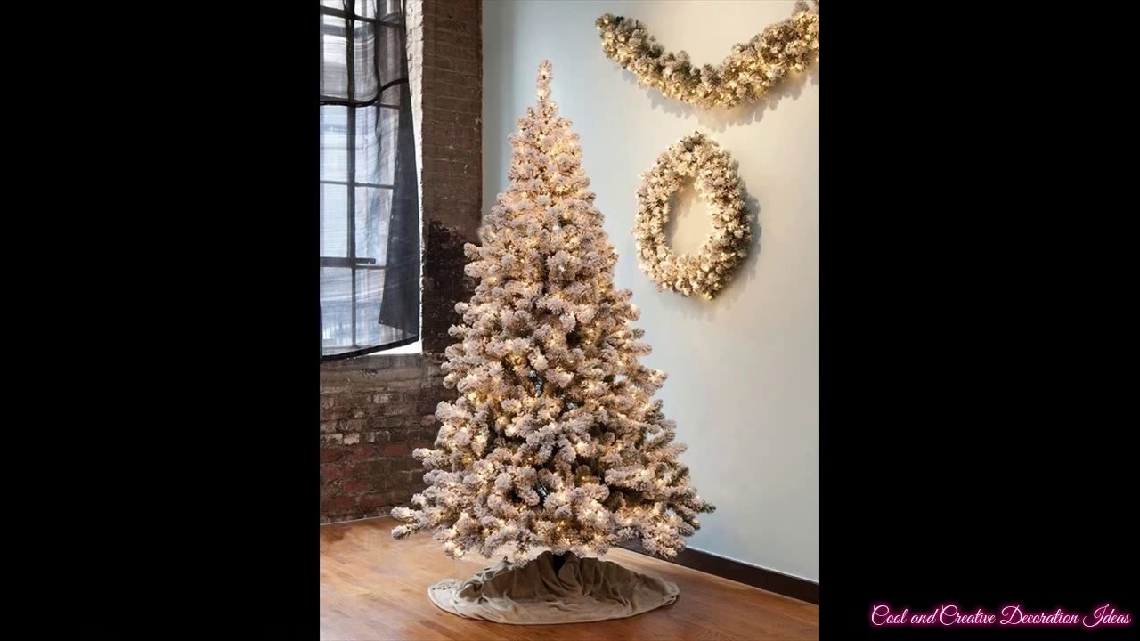 Flocked Christmas Trees Artificial - YouTube