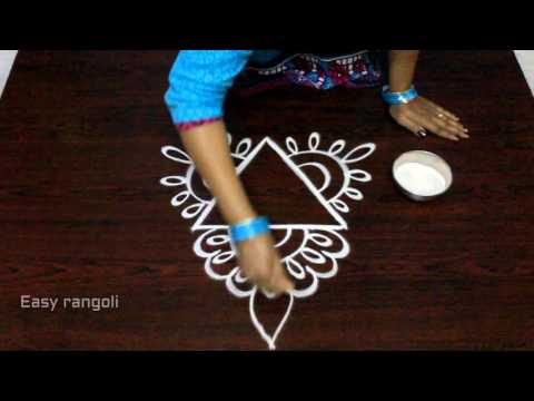 free hand rangoli designs with out dots || simple kolam designs with out dots || muggulu designs