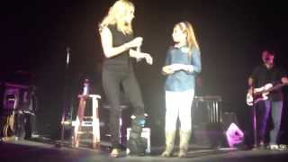 Little Girl sings for Carrie Underwood and takes over the stage.  Genesis Keren Nava