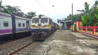 Beautiful Train Crossing : Balurghat Express Aggressive & furiously Crossing Emu Local Train