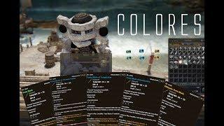 COLORES DEL EQUIPAMIENTO EN BLACK DESERT | TIPOS DE COLORES | COMO CAMBIAR DE COLOR