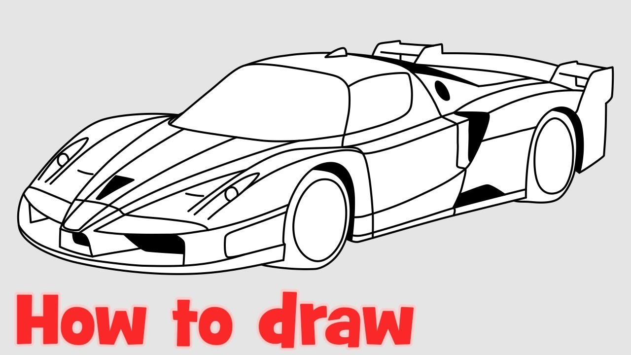 How To Draw A Car Ferrari Fxx Step By Step