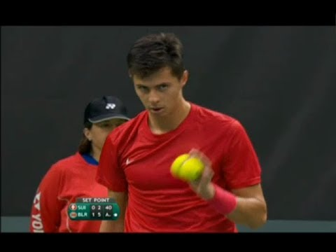 Davis Cup. Switzerland - Belarus. Day 1. HENRI LAAKSONEN vs