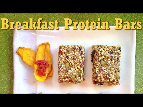 Raw Vegan Breakfast Protein Bars Recipe
