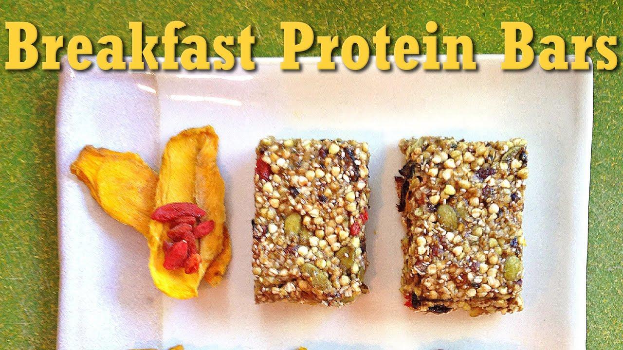 Raw vegan breakfast protein bars recipe youtube forumfinder Choice Image