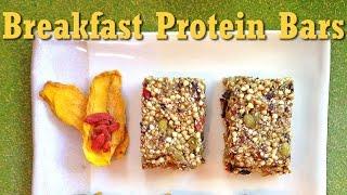 Raw Vegan Breakfast Protein Bars Recipe