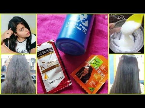 Salon Type Hair Smoothening At Home | In Just RS 10 | Hair Smoothening At Home Step By Step |💁💆