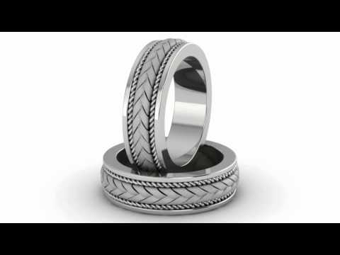braided-wedding-band-ring-in-14k-white-gold,-sku#-wed-c---applesofgold.com